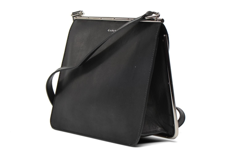 Handtaschen Carven SAINT SULPICE Bandoulière schwarz ansicht von rechts