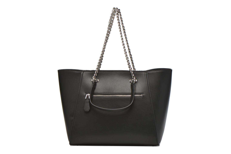 Handtassen Guess Nikki Chain tote Zwart voorkant