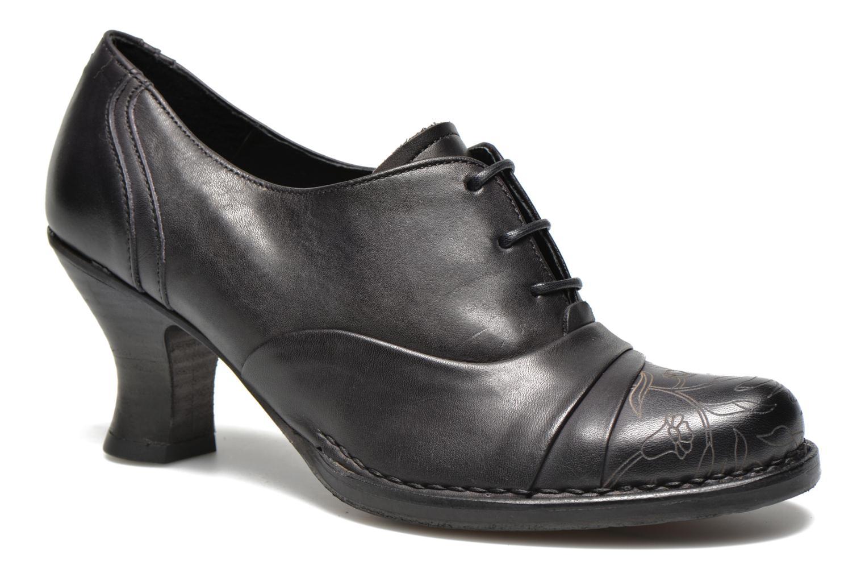 Chaussures à lacets Neosens Rococo S845 Noir vue détail/paire