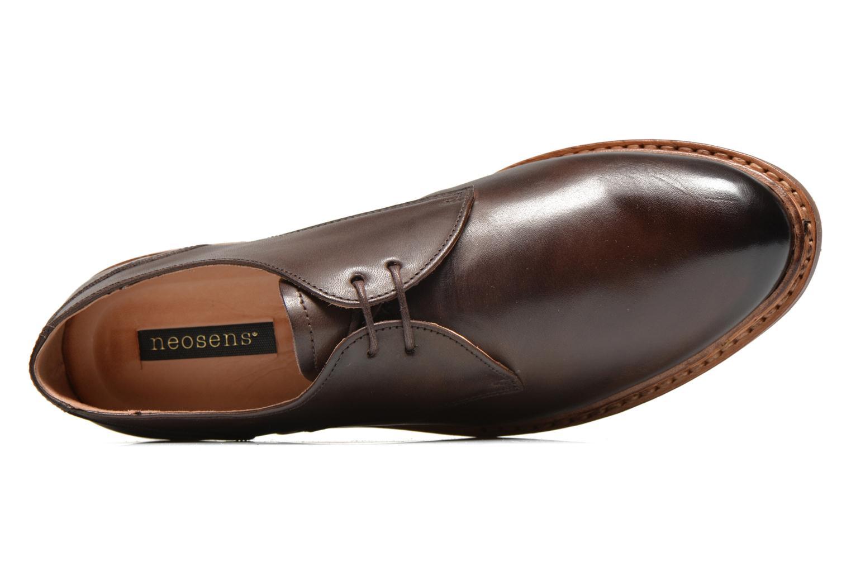 Zapatos con cordones Neosens Hondarribi S898 Marrón vista lateral izquierda