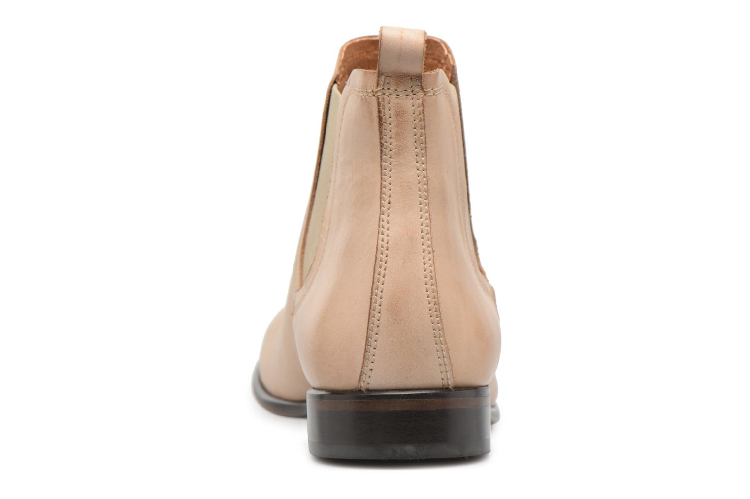 Ankle boots Georgia Rose Anillou Beige view from the right