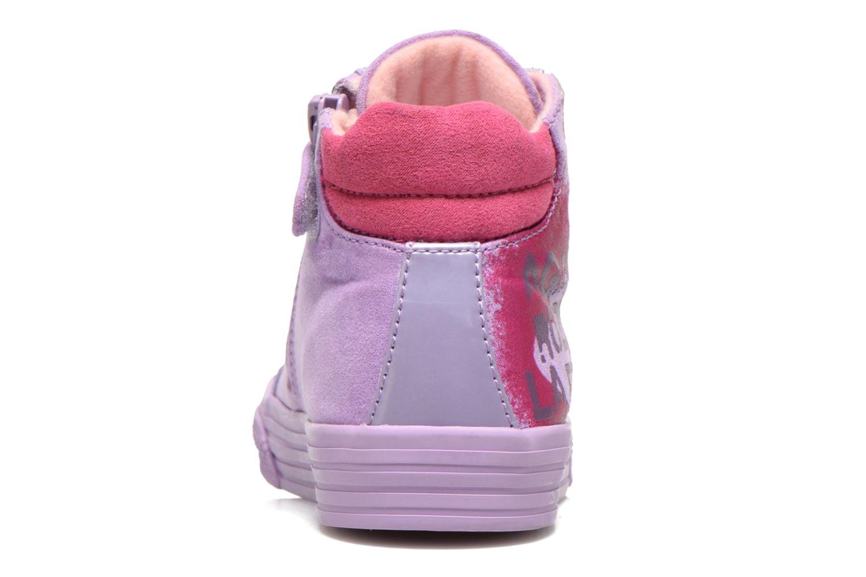 Baskets Agatha Ruiz de la Prada Mini Lollipop Violet vue droite