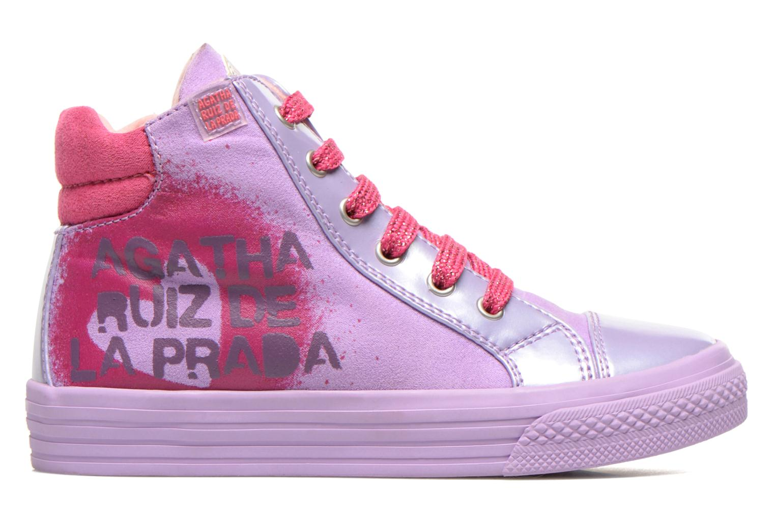 Trainers Agatha Ruiz de la Prada Mini Lollipop Purple back view