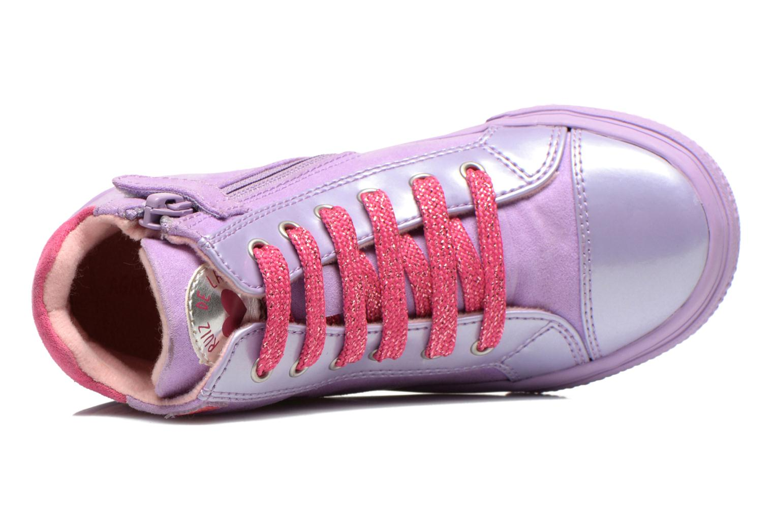 Trainers Agatha Ruiz de la Prada Mini Lollipop Purple view from the left