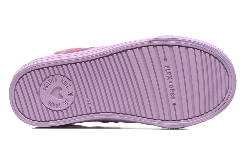 Baskets Agatha Ruiz de la Prada Mini Lollipop Violet vue haut