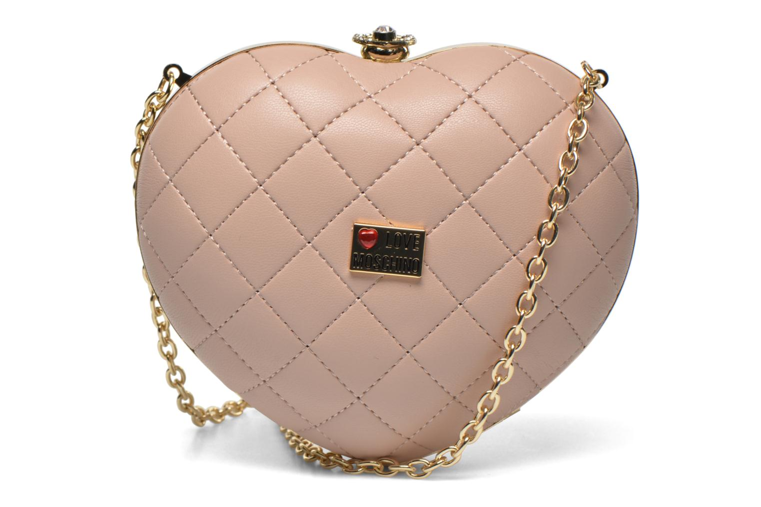 Sacs pochettes Love Moschino Quilted Heart Rose vue face