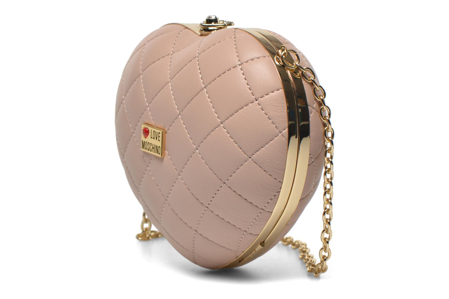 Sacs pochettes Love Moschino Quilted Heart Rose vue droite
