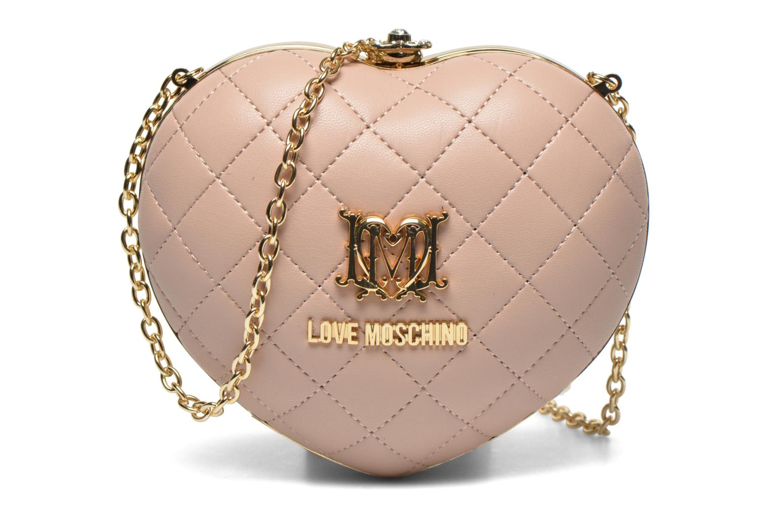 Sacs pochettes Love Moschino Quilted Heart Rose vue détail/paire