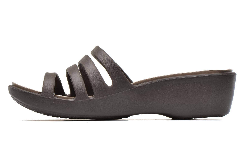 Clogs & Pantoletten Crocs Rhonda Wedge Sandal W braun ansicht von vorne
