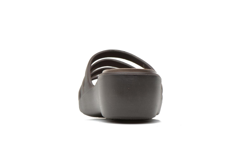 Rhonda Wedge Sandal W Espresso/mushroom