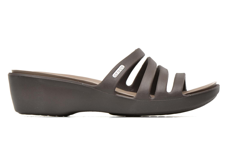 Clogs & Pantoletten Crocs Rhonda Wedge Sandal W braun ansicht von hinten