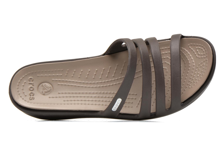 Clogs & Pantoletten Crocs Rhonda Wedge Sandal W braun ansicht von links