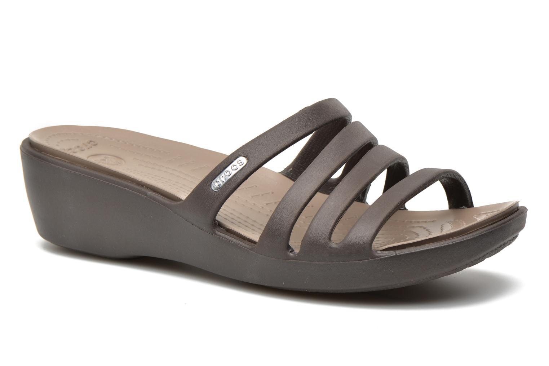 Clogs & Pantoletten Crocs Rhonda Wedge Sandal W braun detaillierte ansicht/modell
