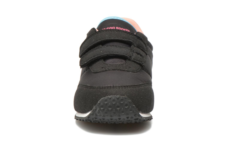 Sneaker Le Coq Sportif Racerone INF schwarz schuhe getragen