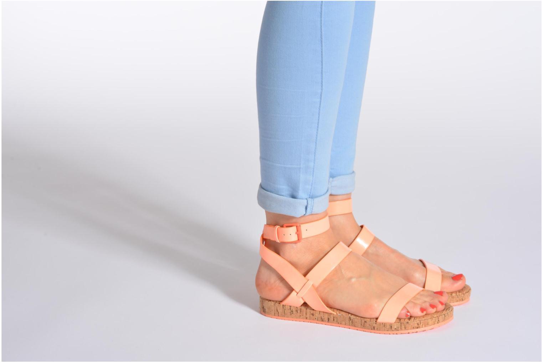 Sandales et nu-pieds Aldo Biravia Orange vue bas / vue portée sac