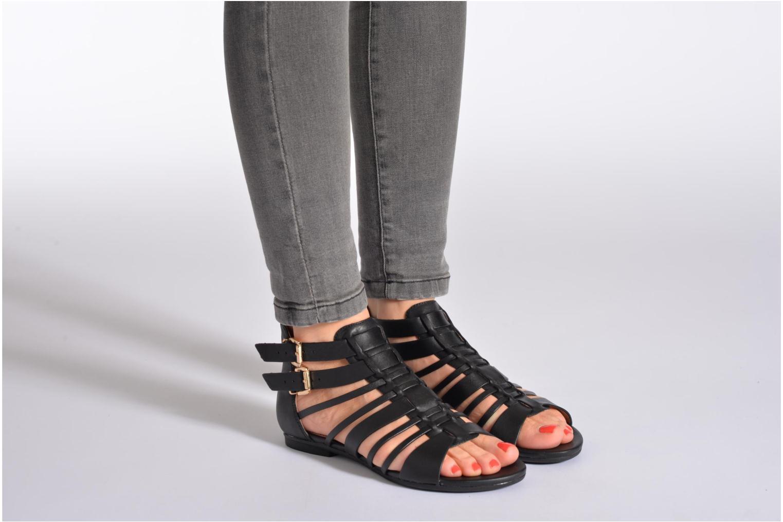 Sandales et nu-pieds Aldo Mariya Orange vue bas / vue portée sac