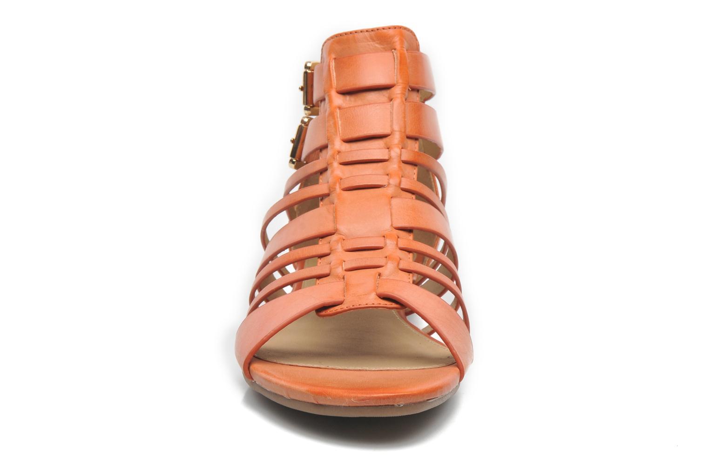 Sandalen Aldo Mariya orange schuhe getragen