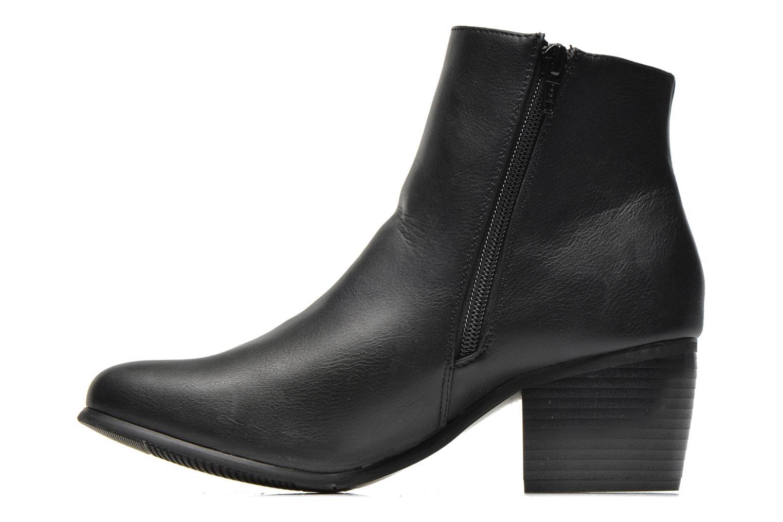 Boots en enkellaarsjes Pieces Uma Chelsea Zwart voorkant