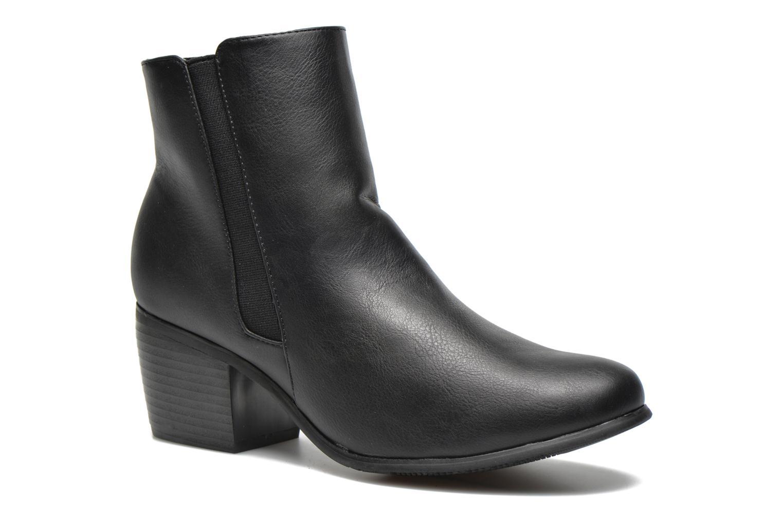 Boots en enkellaarsjes Pieces Uma Chelsea Zwart detail