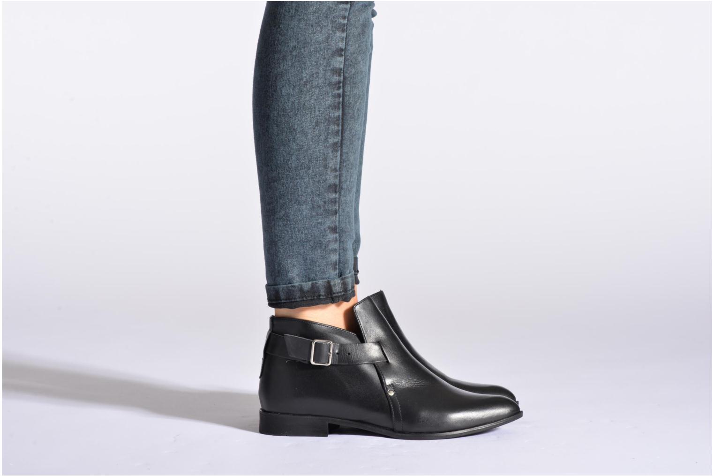 Stiefeletten & Boots Pieces Utara leather buckel schwarz ansicht von unten / tasche getragen