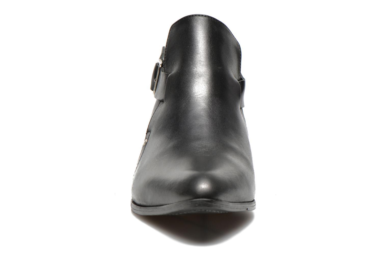 Stiefeletten & Boots Pieces Utara leather buckel schwarz schuhe getragen