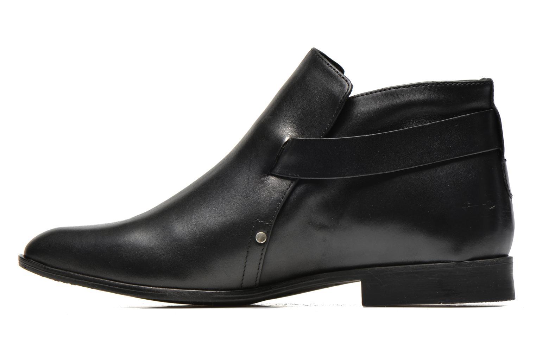Stiefeletten & Boots Pieces Utara leather buckel schwarz ansicht von vorne