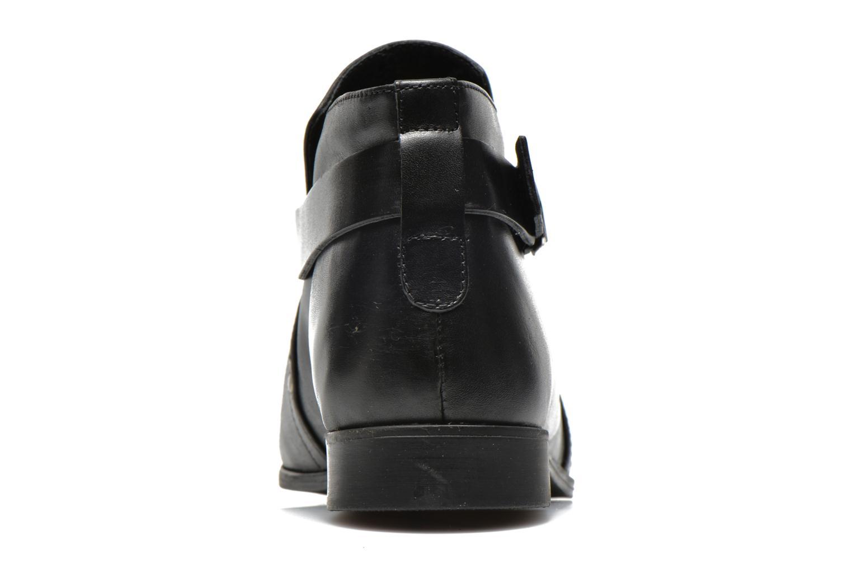Stiefeletten & Boots Pieces Utara leather buckel schwarz ansicht von rechts