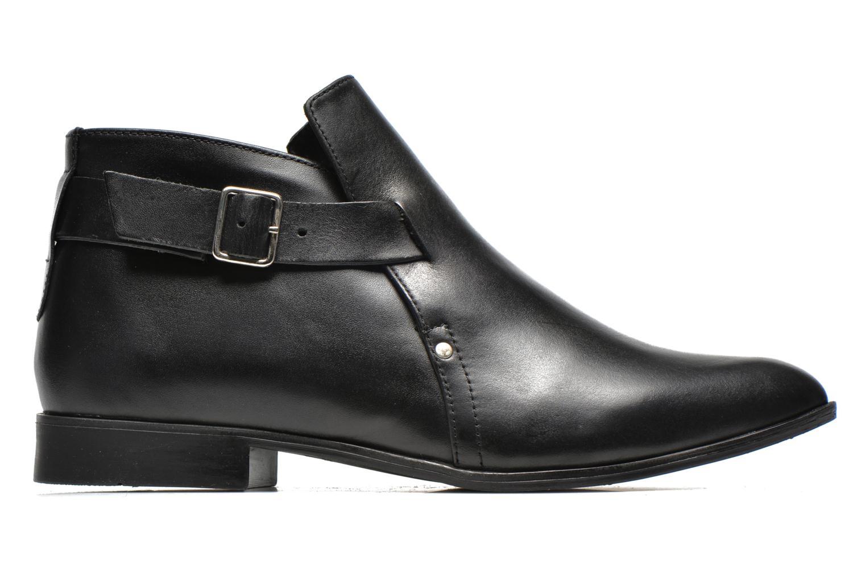 Stiefeletten & Boots Pieces Utara leather buckel schwarz ansicht von hinten
