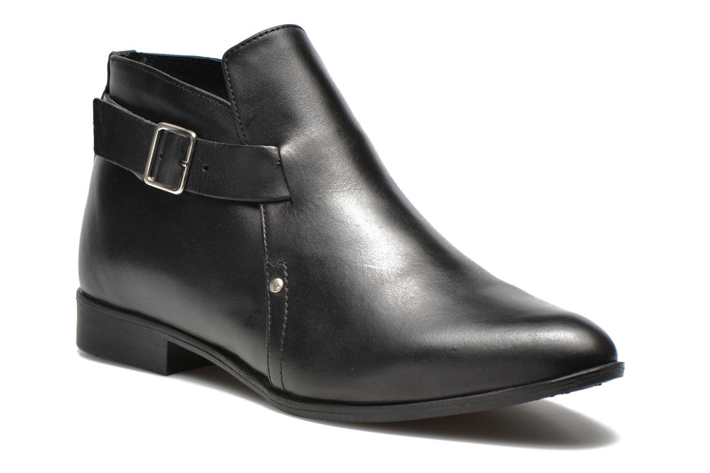 Stiefeletten & Boots Pieces Utara leather buckel schwarz detaillierte ansicht/modell