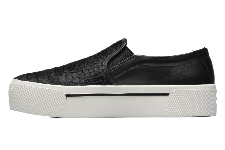 Sneakers DKNY Bless platform Zwart voorkant