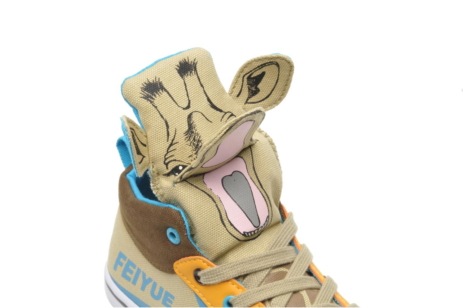 Trainers Feiyue Delta Mid Animal 2 Multicolor 3/4 view
