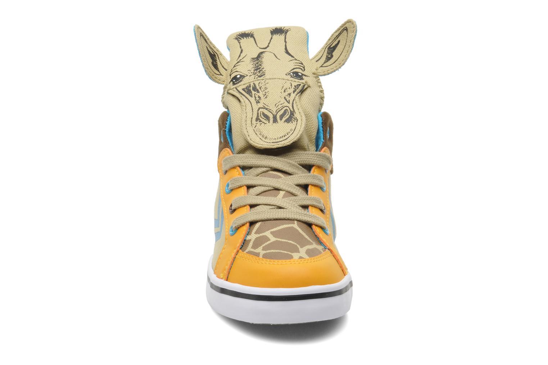 Baskets Feiyue Delta Mid Animal 2 Multicolore vue portées chaussures