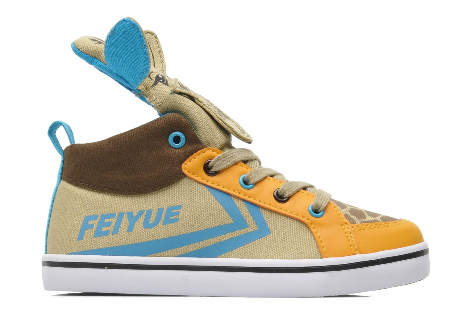Trainers Feiyue Delta Mid Animal 2 Multicolor back view