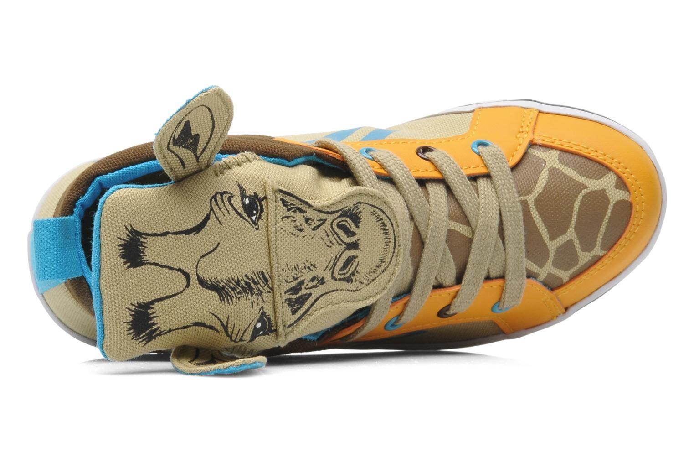 Baskets Feiyue Delta Mid Animal 2 Multicolore vue gauche