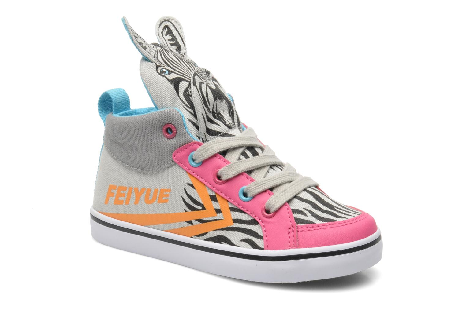 Baskets Feiyue Delta Mid Animal 2 Multicolore vue détail/paire