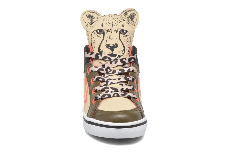 Sneaker Feiyue Delta Mid Animal 2 beige schuhe getragen