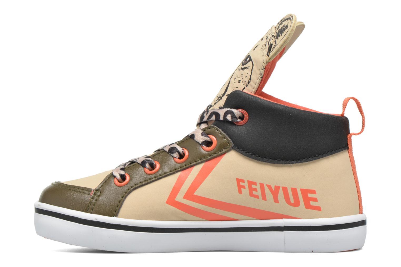 Sneaker Feiyue Delta Mid Animal 2 beige ansicht von vorne