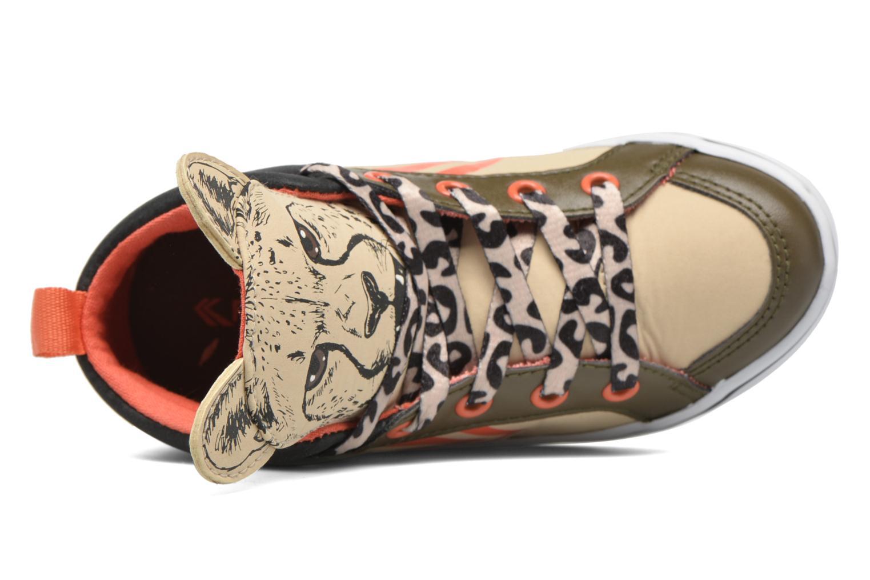 Sneaker Feiyue Delta Mid Animal 2 beige ansicht von links