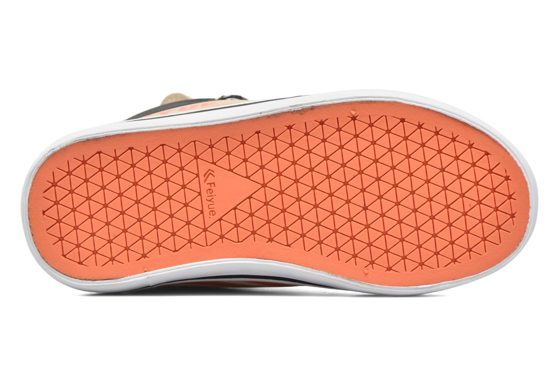 Sneaker Feiyue Delta Mid Animal 2 beige ansicht von oben