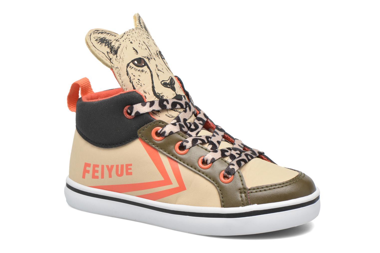 Sneaker Feiyue Delta Mid Animal 2 beige detaillierte ansicht/modell