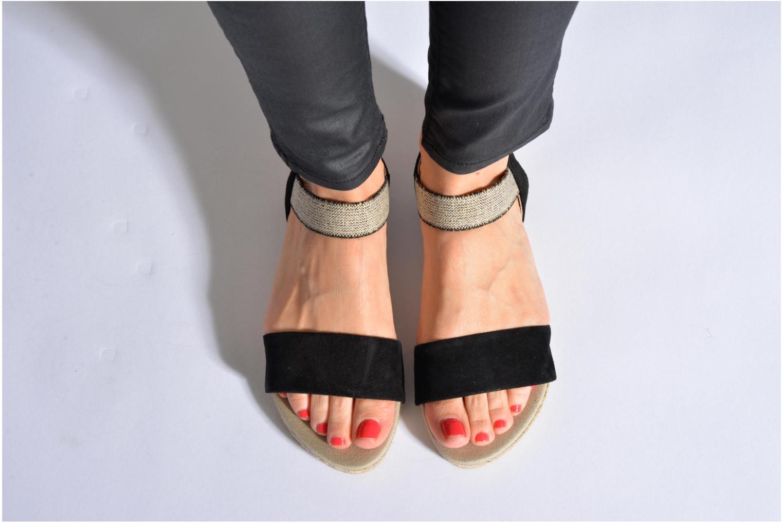 Sandales et nu-pieds La maison de l'espadrille Sandale 1091 Noir vue bas / vue portée sac