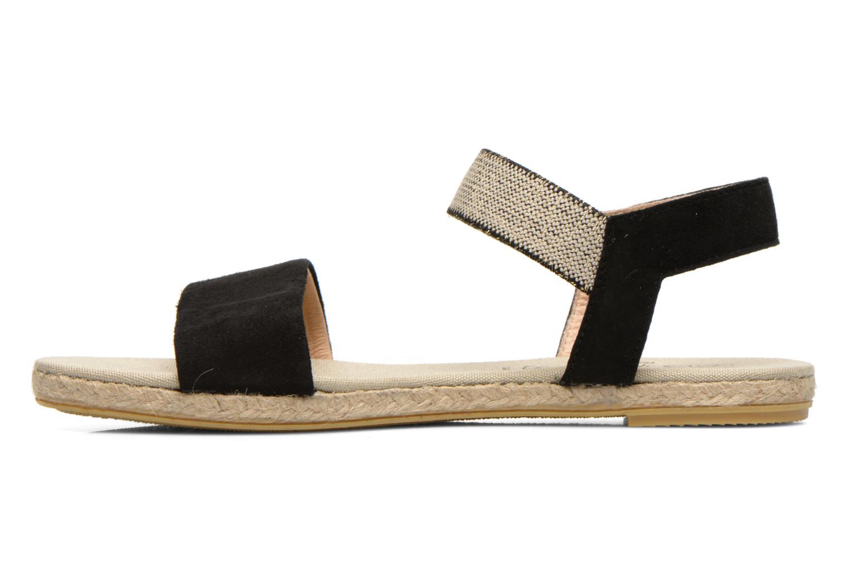 Sandales et nu-pieds La maison de l'espadrille Sandale 1091 Noir vue face