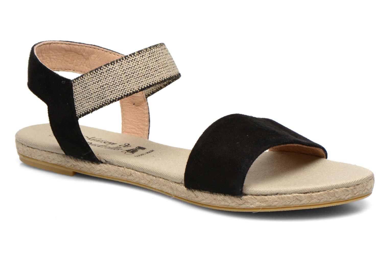 Sandalen La maison de l'espadrille Sandale 1091 Zwart detail