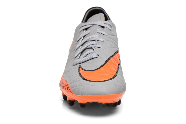 Chaussures de sport Nike Hypervenom Phelon II Fg Gris vue portées chaussures