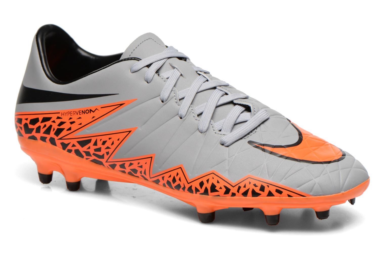 Chaussures de sport Nike Hypervenom Phelon II Fg Gris vue détail/paire