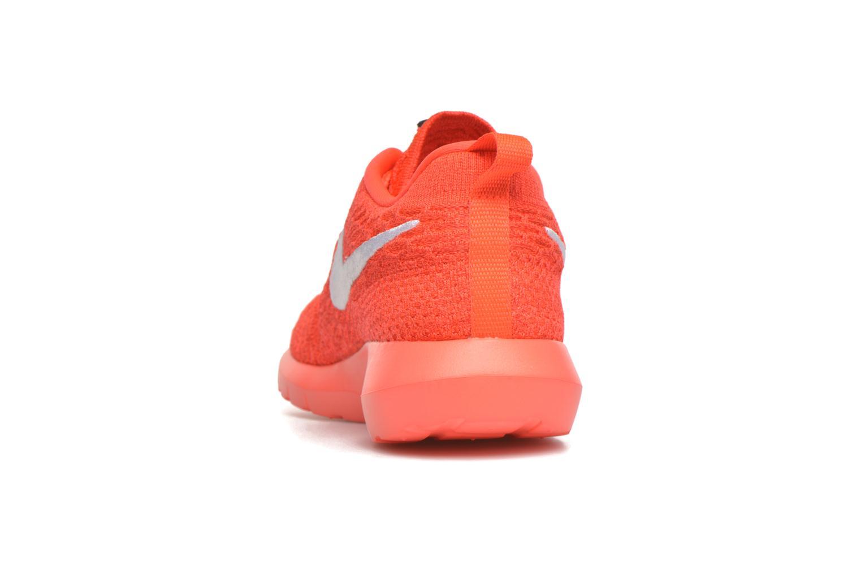 Baskets Nike Nike Roshe Nm Flyknit Orange vue droite