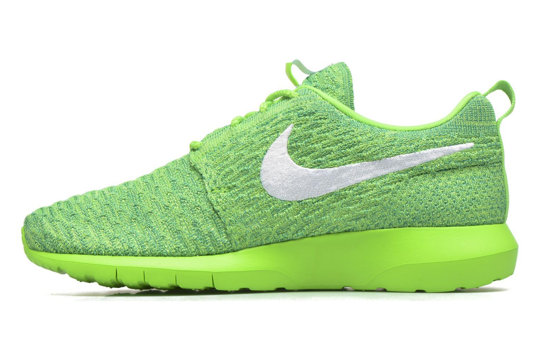 Nike Roshe Nm Flyknit Voltage Green/White-Lcd Green