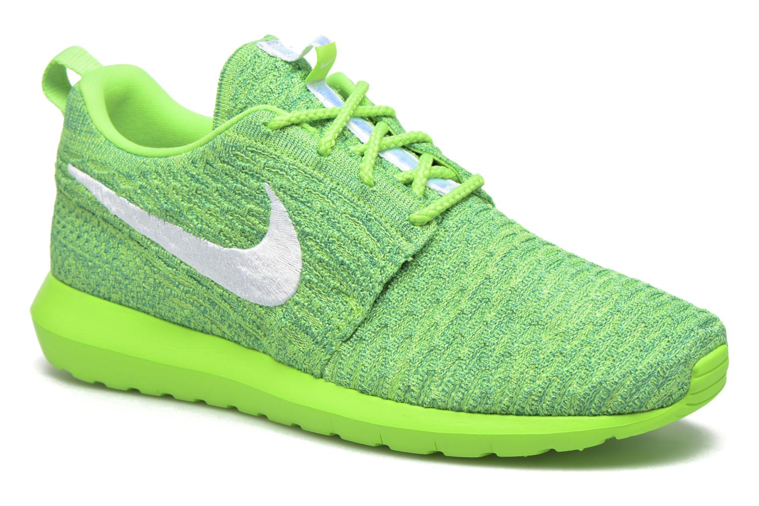 Nike Roshe Nm Flyknit Voltage Green/White-Lcd Green