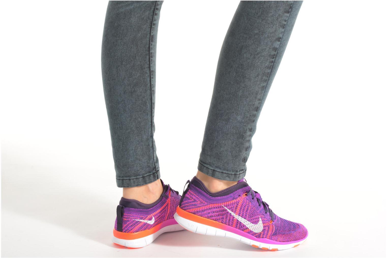 Chaussures de sport Nike Wmns Nike Free Tr Flyknit Violet vue bas / vue portée sac