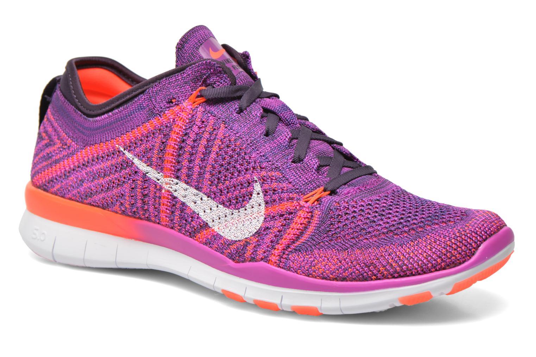 Chaussures de sport Nike Wmns Nike Free Tr Flyknit Violet vue détail/paire